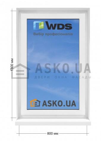 Окно WDS в  частный дом. МП(ПВХ) глухое 800мм х1300мм в Харькове фото