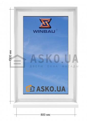 Окно WINBAU в  частный дом. МП(ПВХ) глухое 800мм х1300мм в Харькове фото