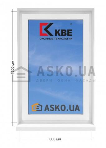 Окно KBE в  частный дом. МП(ПВХ) глухое 800мм х1300мм в Харькове фото