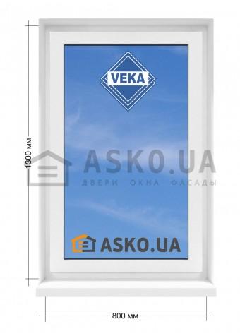 Окно VEKA в  частный дом. МП(ПВХ) глухое 800мм х1300мм в Харькове фото