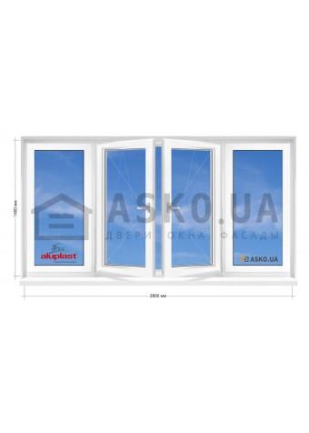 Окно Aluplast в 9-ти, 12-ти этажка Чешка. Балконная рама. Косой балкон 2800мм Х 1400мм в Харькове фото