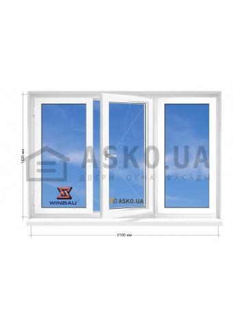 Окно WINBAU в 5-этажку Хрущевка. МП(ПВХ) 2100мм х 1400мм в Харькове фото