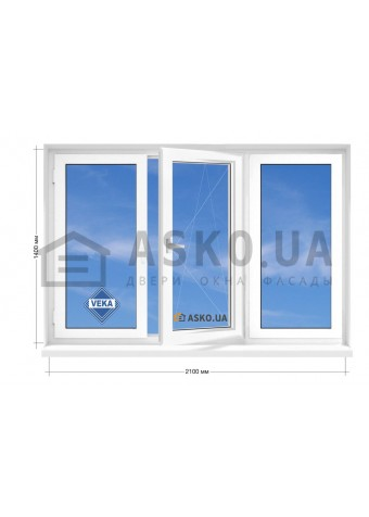 Окно VEKA в 5-этажку Хрущевка. МП(ПВХ) 2100мм х 1400мм в Харькове фото