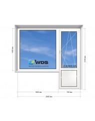 Окно WDS в 9-ти, 12-ти  этажка Улучшенка. Балконный блок 2500мм х 2150мм