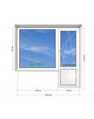 Окно STEKO в 9-ти, 12-ти  этажка Улучшенка. Балконный блок 2500мм х 2150мм