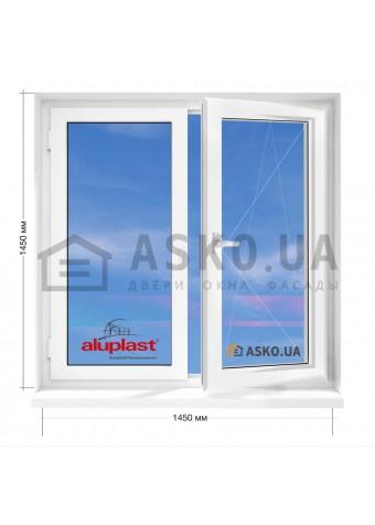 Окно Aluplast в 9-ти, 12-ти  этажка улучшенка. МП (ПВХ) 1450мм х 1450мм в Харькове фото