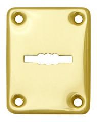 Декоративная накладка ESC082-SG-1 (МАТ ЗОЛОТО) на сувальдный замок (1шт) (латунь)
