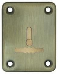 Декоративная накладка ESC081-AB-7 (БРОНЗА) на сув. замок с шторкой (1шт) (латунь)