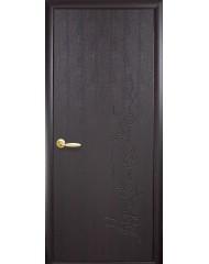 Межкомнатная дверь Колори Сакура глухое с гравировкой венге 3D new