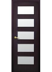 Межкомнатная дверь Квадра Ева со стеклом сатин венге DeWild