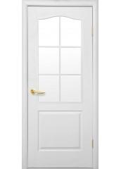 Межкомнатная дверь Симпли Классик со стеклом сатин Структурный