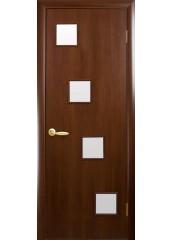 Межкомнатная дверь Квадра Ронда со стеклом сатин Орех