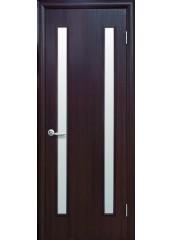 Межкомнатная дверь Квадра Вера со стеклом сатин венге DeWild