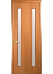 Межкомнатная дверь Квадра Вера со стеклом сатин Ольха