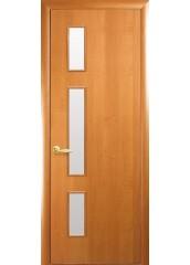Межкомнатная дверь Квадра Герда со стеклом сатин Ольха