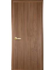 Межкомнатная дверь Колори Сакура глухое с гравировкой Ольха